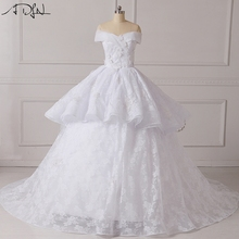 ADLN Turquoise Ball Gown Wedding Dresses Floor-Length