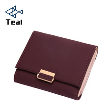 2019 Wallet Female Leather Women Long Purse Plaid Ladies Hot Change Card Holder Coin Small Purses For Girls