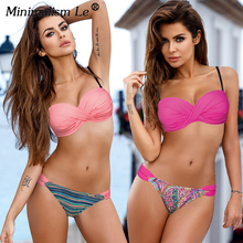 Minimalism Le Plus Size Bikini Set Women Swimsuit Push Up Bathing Suit Solid Bikinis 2019 Sexy Retro Beach Wear Biquini XXL