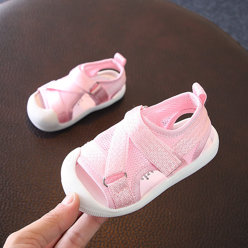 summer new mesh cloth toddler beach sandals shoes 1 to 3 years old children toddler baby shoes for boys and girls sandals shoes