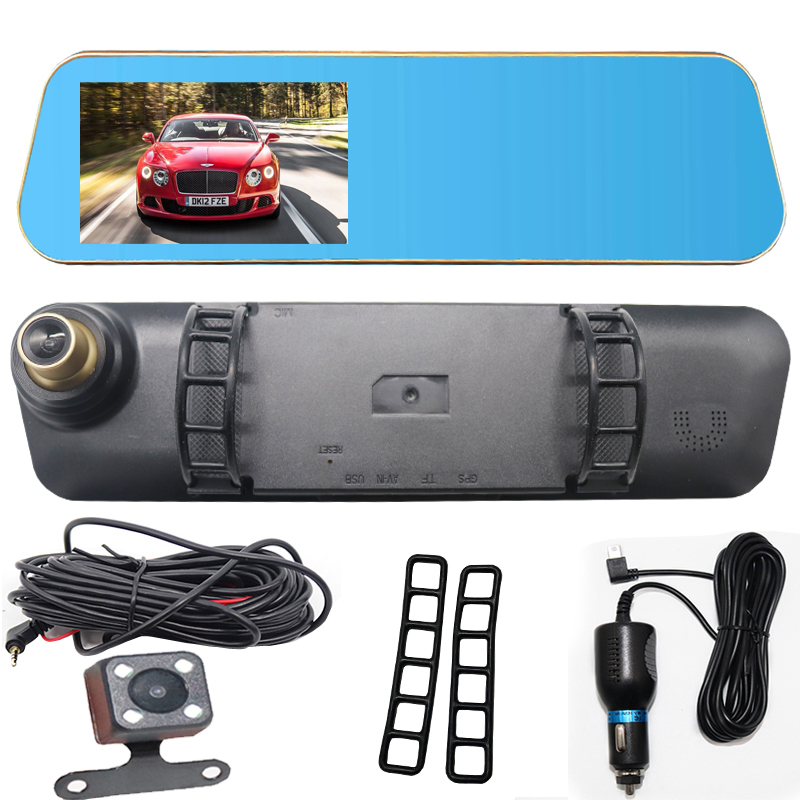 Night Vision Dash Cam FHD 1080P Car DVR Digital Video Recorder Dash cam Camera For Driving Recording Car Detector Double lens