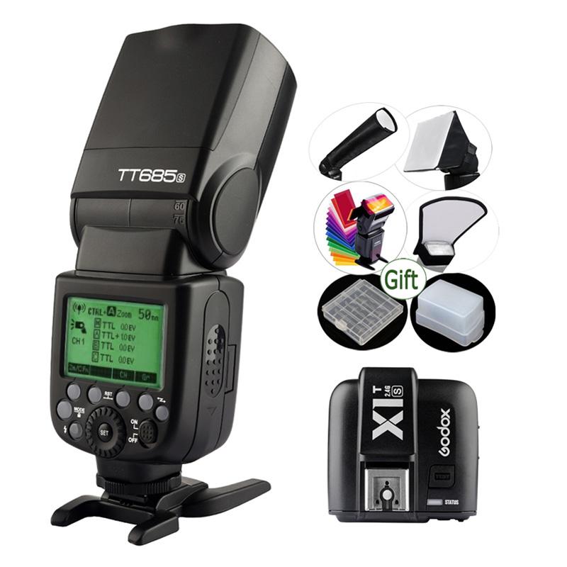 Prix pour GODOX TT685S + Sans Fil Déclencheur Flash X1T-S Émetteur X1S TTL 2.4G HSS 1/8000 s Speedlite pour Sony A77II A7R II A58 A99 HVL-F60M