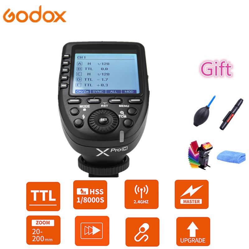 5 Group Buttons,4 Function Buttons Offer Convenient Manipulation Godox XPro-S TTL 2.4G Wireless High Speed Sync 1//8000s X System Flash Trigger Transmitter Compatible for Sony Cameras,11 Customizable