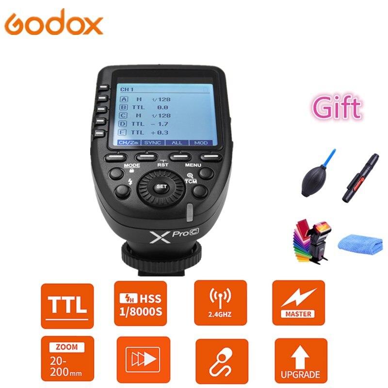 Godox xpro-c xpro-n xpro-s xpro-f xpro-o transmetteur de déclenchement Flash 2.4G sans fil HSS TTL pour Canon Nikon Sony FUJI appareil photo reflex numérique