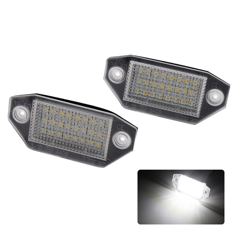 2pcs/lot No Error Car LED Number License Plate Light Lamp for Ford Mondeo Focus MK2/C-Max MK1