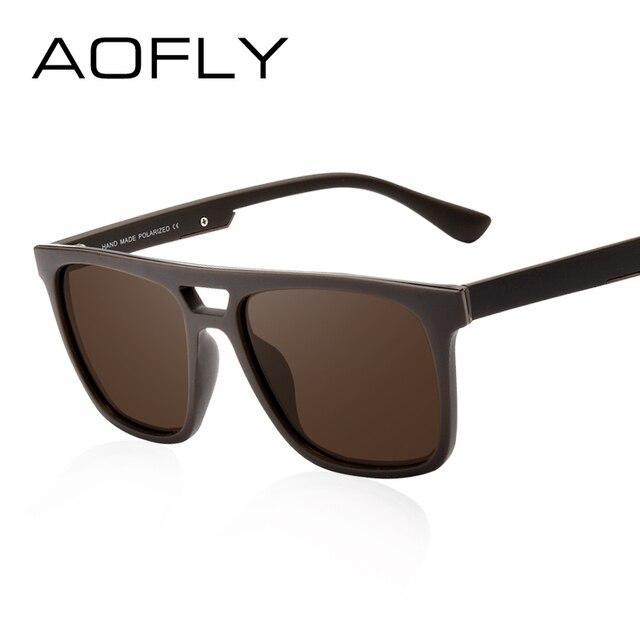 0412443f3a9fd AOFLY Quadrados Do Vintage Óculos Polarizados Óculos de Sol Masculino óculos  de Sol Unissex Marca Designer
