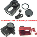 2017 New Suptig Aluminum Frame Protective Case+37mm UV Filter For Xiaomi Yi 2 Xiaoyi 2 4K Action Sport Camera CNC Aluminum Cove