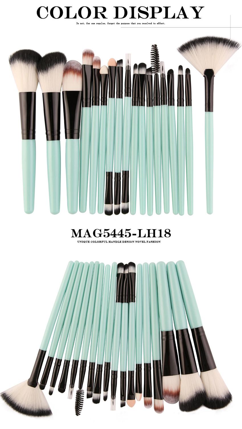 18Pcs/lot Brand Brushes Makeup Brush Set maquiagem Cosmetics Power Foundation Blush Eye Shadow Blending Fan Make Up Kits Beauty 11