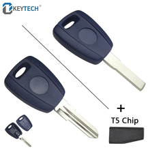 OkeyTech Replacement Transponder Key Fob With T5 Chip SIP22/GT15R Uncut Blade Fit For Fiat Bravo Punto Ducato Daily Scudo