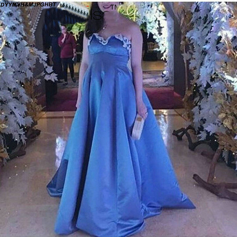 Maternity Prom Dresses Applique Sweetheart Evening Dresses Royal ...