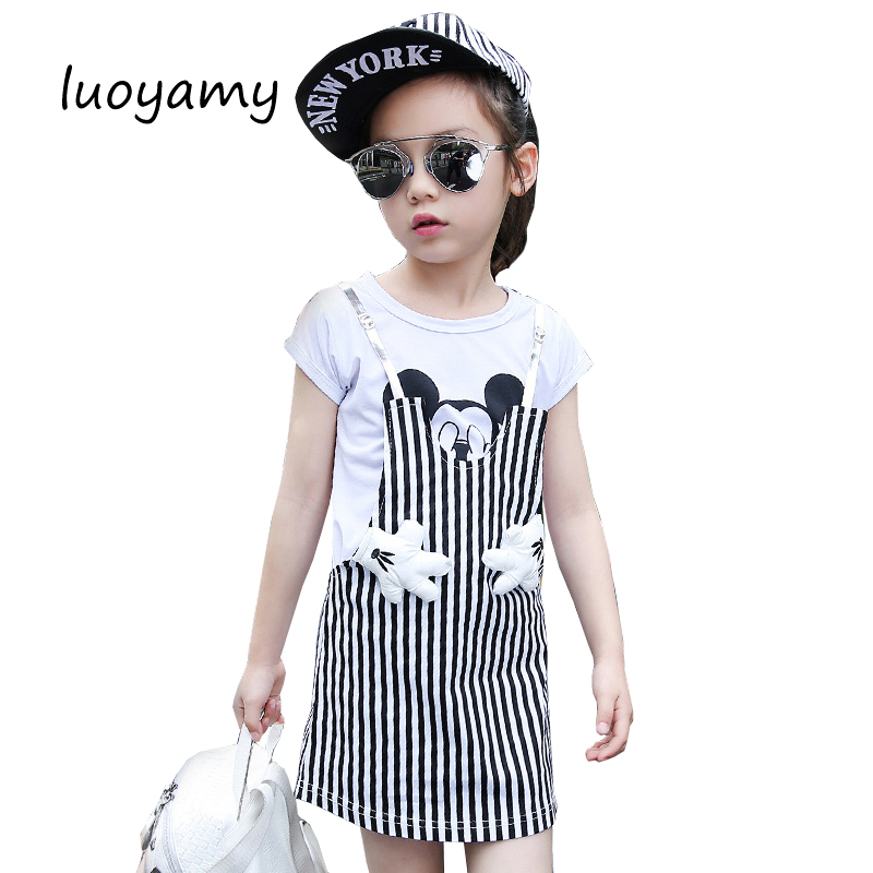 luoyamy 2017 Summer Style Girls Children Striped Patchwork Dress Baby Party Next Clothing Kids Princess Cute Dresses очиститель деталей тормозов и сцепления астрохим act 4306 антискрип
