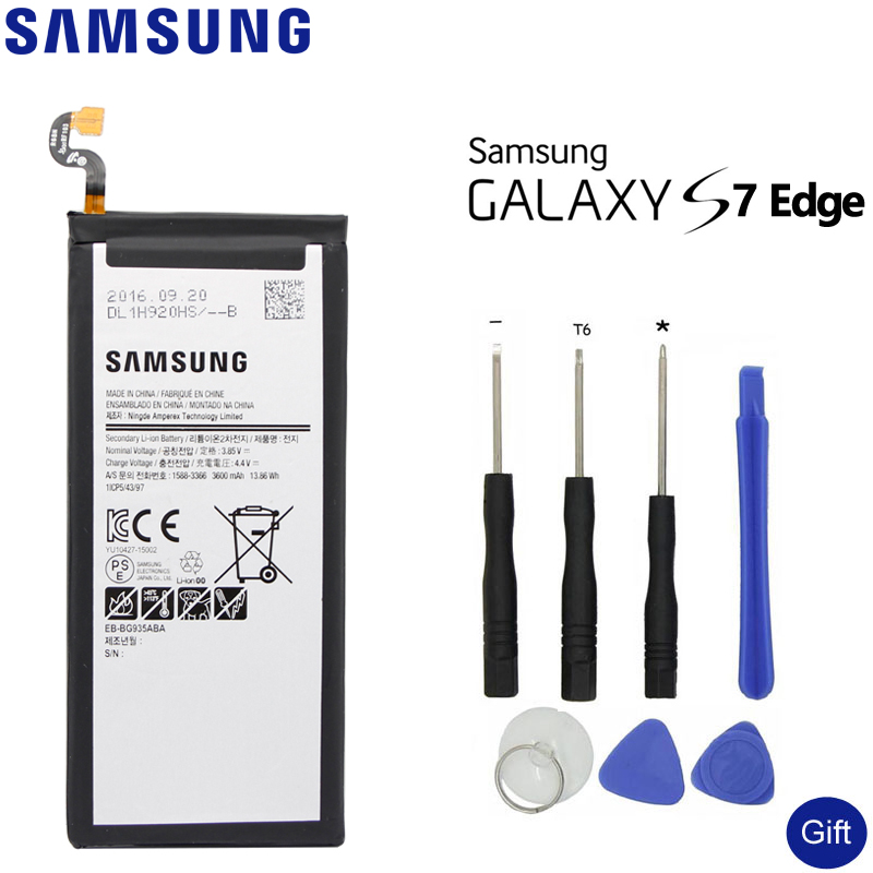 SAMSUNG EB-BG935ABA For Samsung GALAXY S7 Edge G9350 G935FD SM-G935F Authentic Battery 3600mAh Original Spare BatterySAMSUNG EB-BG935ABA For Samsung GALAXY S7 Edge G9350 G935FD SM-G935F Authentic Battery 3600mAh Original Spare Battery