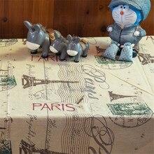 Artistic Paris Eiffel Dining Tablecloth Linen Cotton Table Cloth Picnic  Outdoor Coffee Party Wedding Table Cover Toalha De Mesa