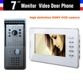 New 7 Inch Lcd Video Doorbell Door Phone Doorbell Intercom System 1 V 1  Video Doorphone Alloy Panel Camera