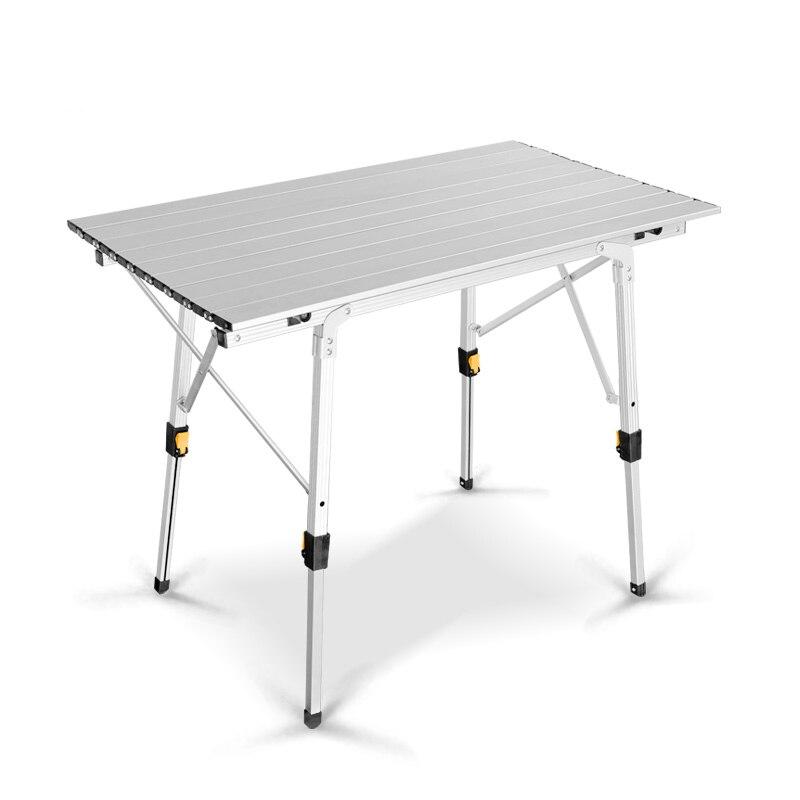 Table pliante portative de ménage d'alliage d'aluminium de Table de pique-nique de costume en aluminium en métal