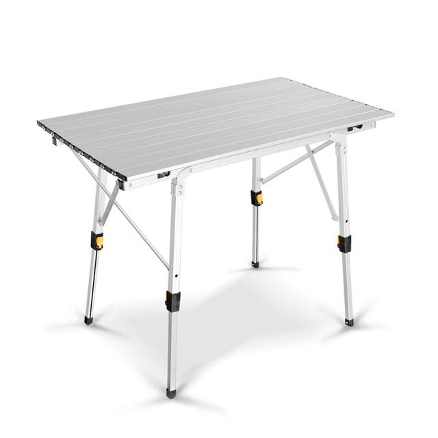 Metal Aluminum Suit Portable Folding Picnic Table Alloy Lifting Household