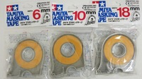 New Tamiya Masking Tape 6mm 10mm 18mm With Dispensers 3 Rolls 87030 87031 87032 Free Shipping