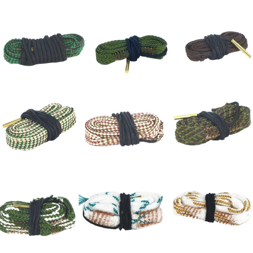 Hunting Bore Snake Rifle Cleaning 22 Cal 223 5.56mm .17 .38 284 .308.40 .243 6mm ,7mm, 9mm Calibre Boresnake Rope Rifle Barrel