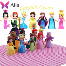 Duplo technic Cartoon princesse friends brick Figures set building blocks Compatible With playmobil toys for children gift цены