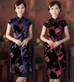 Free Shipping New Arrival Chinese Tradition Women's Velour Mini Cheong-sam Dress M L XL XXL 3XL 4XL10717