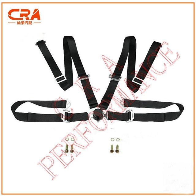 """CRA Performance-2 """"de $ number puntos/2 pulgadas 4-point Racing Harness Quick Release Negro/Cinturón de Seguridad Del Coche/Cinturones de Seguridad sin logo (Cáncamo)"""