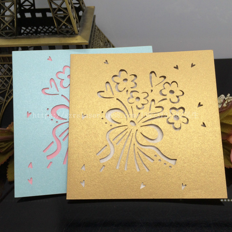 Christmas Greeting Cards Handmade.Us 17 78 39 Off 50pcs Laser Cut Greeting Card Christmas Card Handmade Birthday Cards Wishes Postcards Creative Gift Cards Stationery 6zsh256 In