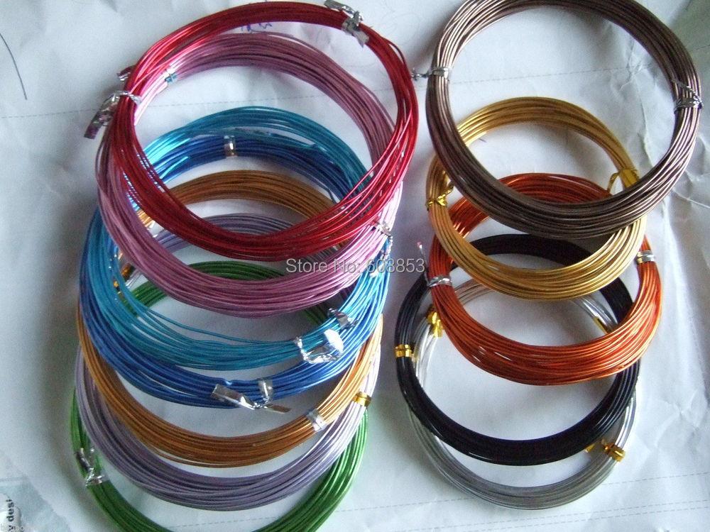 50 meters random 10 colors 18 gauge round aluminum jewelry for 10 gauge craft wire