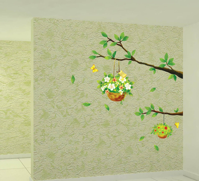 High quality Stickers Wallpaper green scenery decorative wall ...
