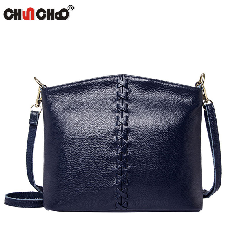 Hot Sale 2017 Fashion Women Messenger Bags Soft Cowhide Genuine Leather Crossbody Female Shoulder Bags For