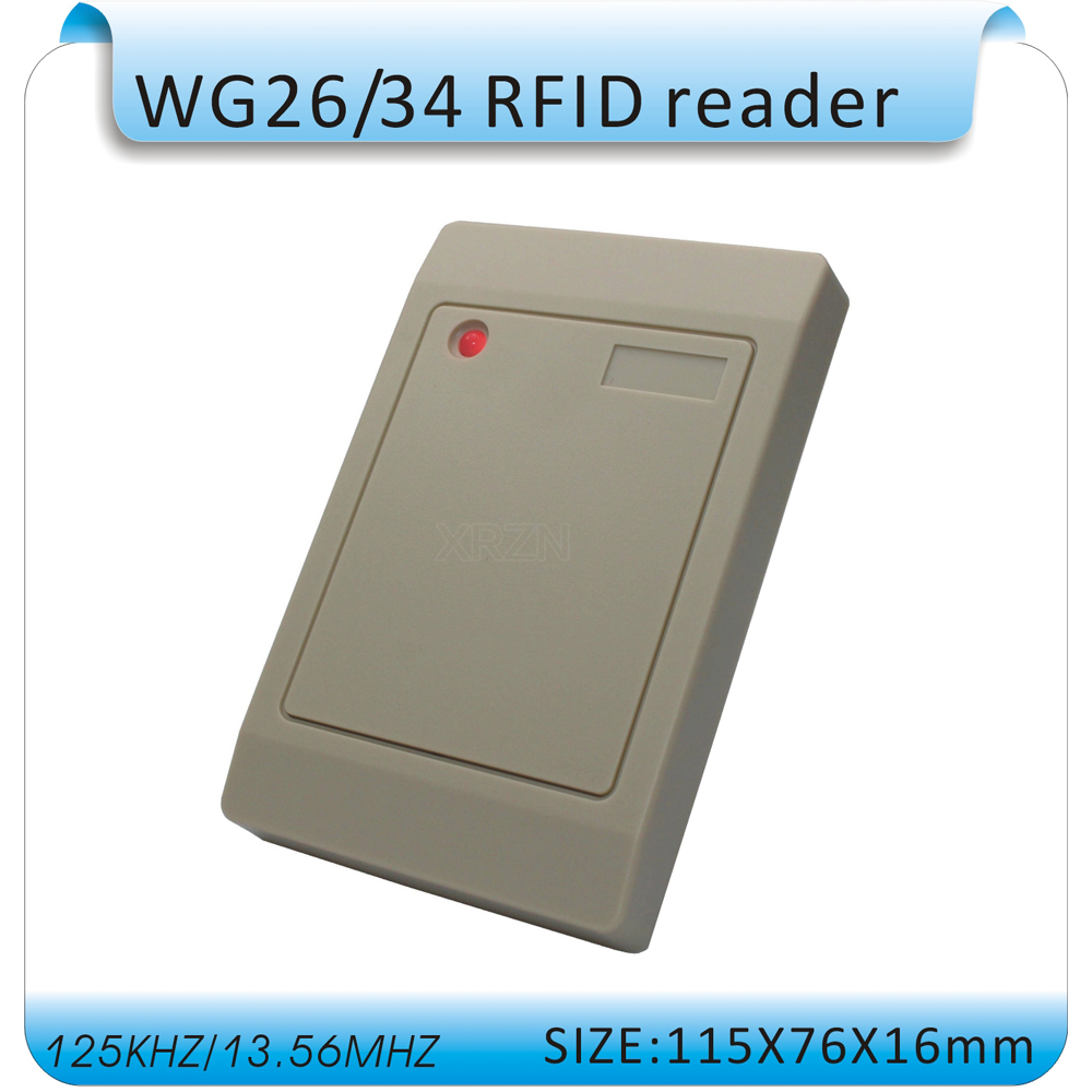 Free shipping 125KHZ RFID ID card reader WG26 /34Access control card reader access control waterproof+10pcs cards id card 125khz rfid reader