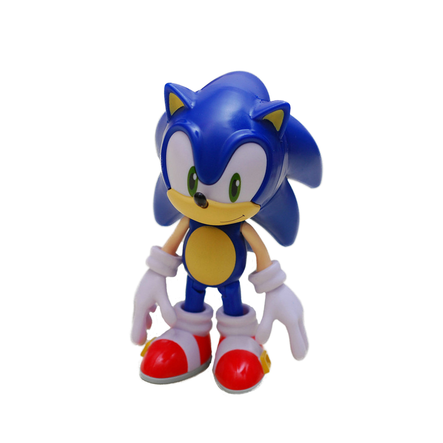 Chanycore GSC Nendoroid 566# Sonic Supersonic speed Hedgehog Action Figure Collection Model Toy 10cm 4'' chanycore gsc nendoroid 423 wo class aircraft plane carrier kantai collection boxed japanese anime action figure toy 10cm 4