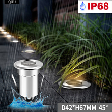 Spot Outdoor Buried lights Embedded IP68 Built-in LED waterproof Fountain underwater light 3W small spotlight 12-24V downlight