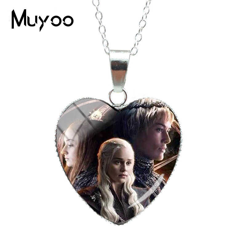 New Hot Game of Thrones Character Heart Jewelry Nacklace King of the Iron Throne Jewelry Winter is Coming PendantsHZ3