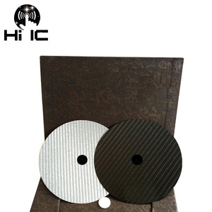 Image 2 - 1PCS פחמן סיבי CD קלטת דיסק מחצלת בסיס כוונון כרית HiFi אודיו פטיפון מכונה אנטי הלם בולם זעזועים רטט קליטה