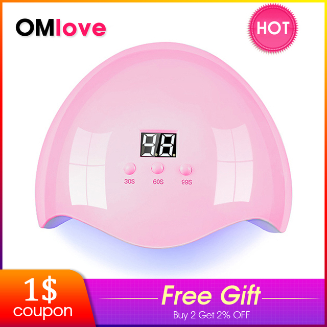 OMlove 36W Nail Dryers For Drying Varnishes Gel UV Lamp LED Lamp Nail For Manicure Nail Light With LCD Display Timer 30s / 99s