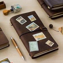 Лидер продаж 100% из натуральной коровьей кожи в стиле ретро Traveler's Notebook дневник журнал Винтаж ручной работы путешествия записная книжка карман планировщик