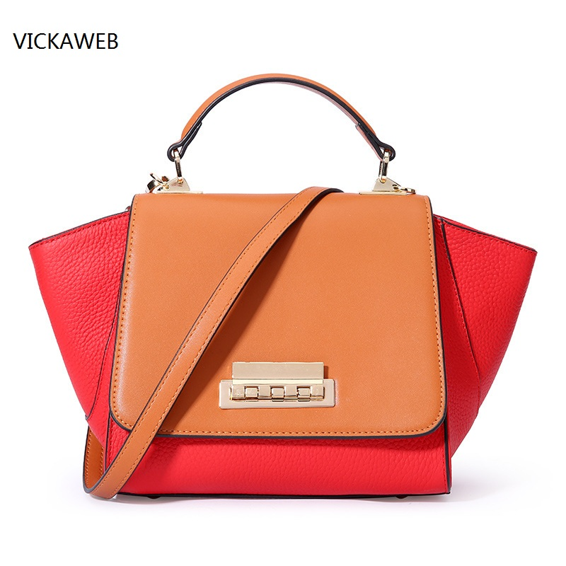 luxury brand wing women handbag genuine leather bag famous brand women leather handbags ladies shoulder bags bolsa feminina sales zooler brand genuine leather bag shoulder bags handbag luxury top women bag trapeze 2018 new bolsa feminina b115
