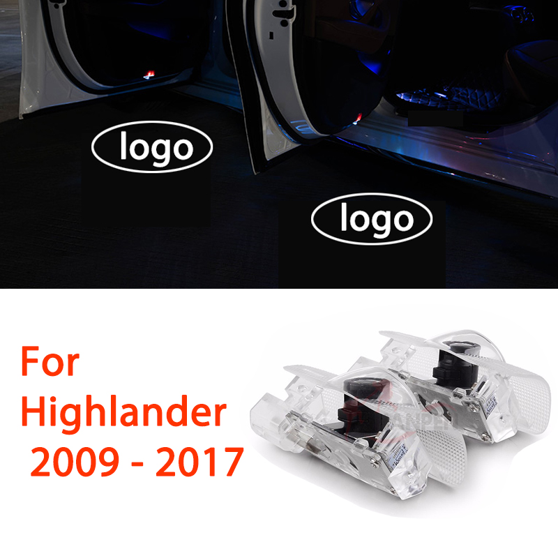 Adaptable 2x Led Car Door Light For Toyota Highlander 2009-2017 Warming Lamp Welcome Laser Projector Light Accessories To Enjoy High Reputation At Home And Abroad