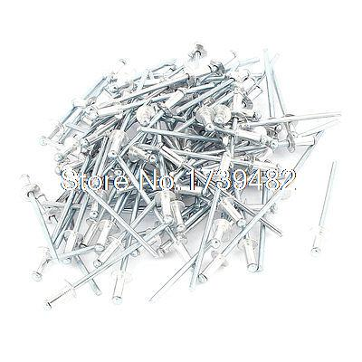 100Pcs 2.4mm x 6mm Large Flange Dome Head Aluminium Blind Pop Rivets