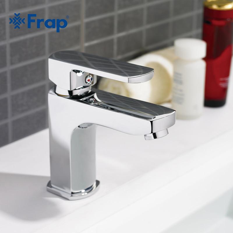 Frap 1 conjunto Corpo de Bronze Torneira Bacia Banheiro Vessel Sink Água banho de torneira pia quente e fria torneiras Misturadoras torneiras Acabamento Cromado F1064