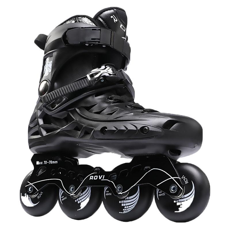 Professional roller Skates adult Shoes, Slalom Sliding inline Skates, Quad skates PU Roller Aluminum alloy frame shoes,IA59 16 pcs 85a 92a quality pu inline roller skates wheels 72 76 80mm high elasticity freestyle roller blade rodas fsk sliding ruedas