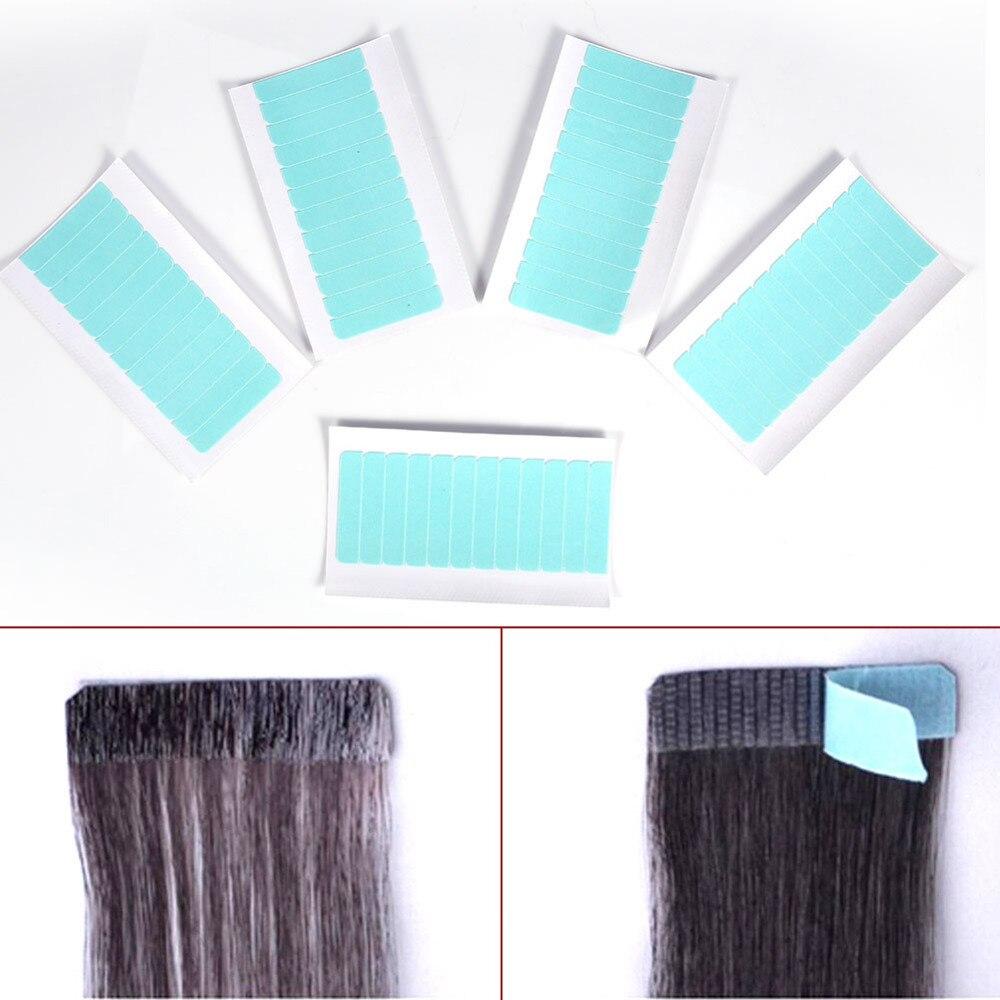 60 Pcs/ensemble Peau Trame Extension de Cheveux Adhésif Double Face Super Bande Tab Étanche de Cheveux Humains Extensions Bande Beauté Maquillage Outil