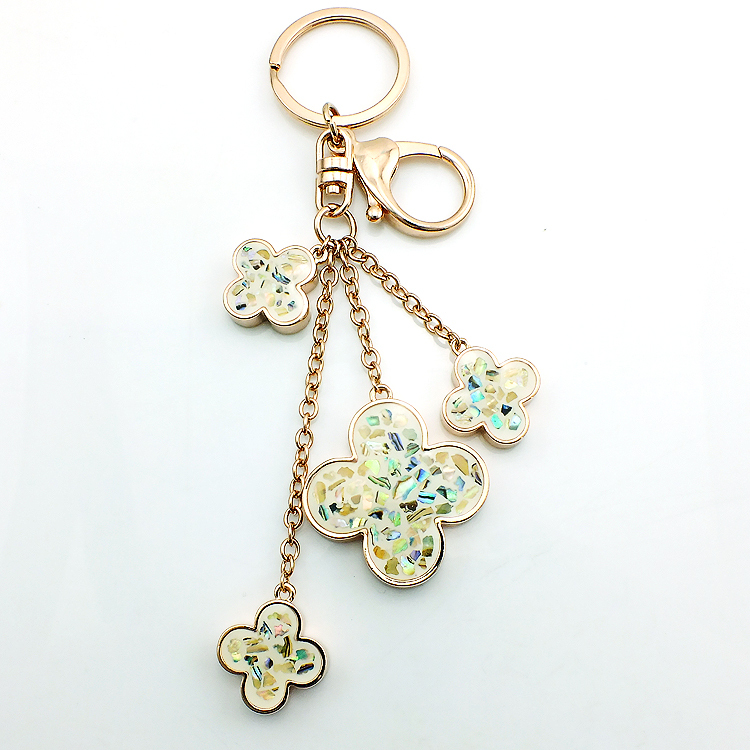 JINGLANG helt nytt mode guldfärg hummerlås nyckelringar dinglar - Märkessmycken - Foto 2
