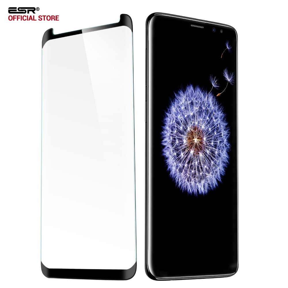 ESR Screen Protector for Samsung Galaxy S9 S9 Plus Full Coverage Tempered Glass 9H 3D Curved Protector Case friendly Glass FilmESR Screen Protector for Samsung Galaxy S9 S9 Plus Full Coverage Tempered Glass 9H 3D Curved Protector Case friendly Glass Film
