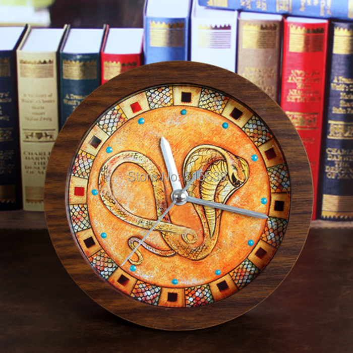 Ancient Egypt India Eye Loafers Alarm Clock Wooden Watches 3d Silent Clocks