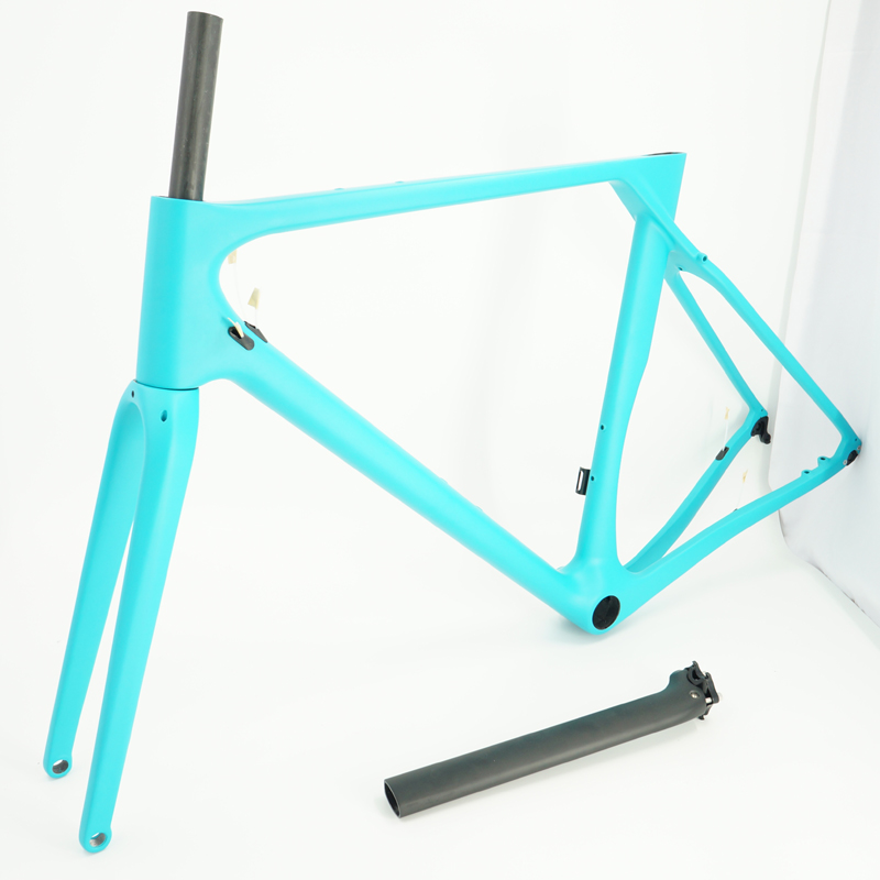 Newest Carbon Gravel Bike Frame DI2 Compatible Gravel Frame Full Carbon Fiber Gravel Bike Frame Thru-axle Free Changa