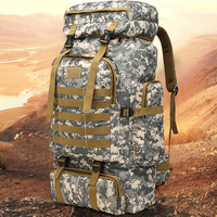 YINGTOUMAN 80L Outdoor Military Tactical Backpack Tactical Bag Army Sport Travel Rucksack Camping Hiking Trekking Camouflage Bag