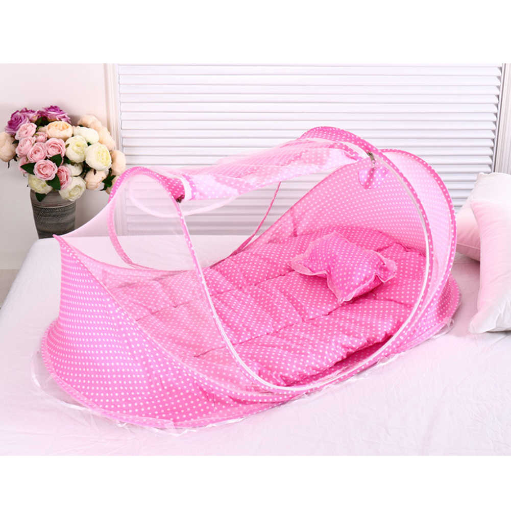 Summer Infant Baby Crib Mesh Mosquito Net Baby Bed Mosquito Insect Cradle Net Foldable Newborn Baby Bedding Protection