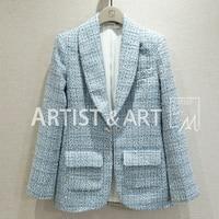 Svoryxiu дизайнерские бренды люксовые Блейзер Для женщин Элегантный Офисные женские туфли синие блейзеры пальто куртки пальто женские