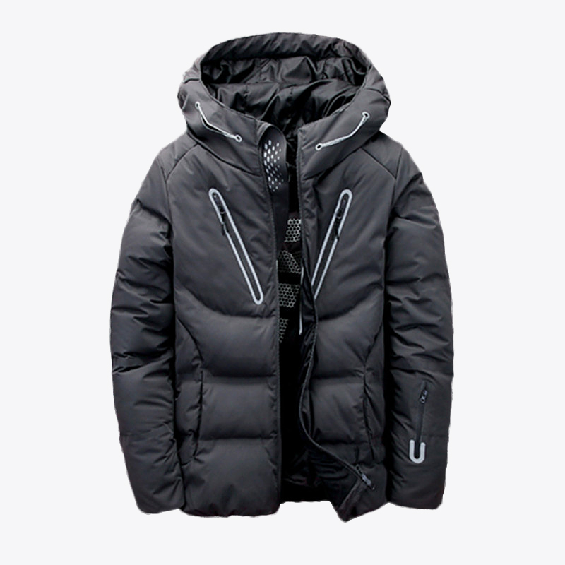 New Winter Outdoor Trekking White Duck Down Jacket Men Hooded Outwear Duck Down Coat Breathable Hiking Camping Sports Jackets
